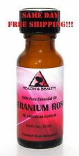 GERANIUM ROSE ESSENTIAL OIL by H&B Oils Center AROMATHERAPY PURE 0.5 OZ, 15 ml