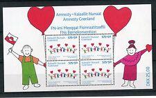 Groenlandia 2007 BF 36 15° anniversario Amnesty Groenlandia MNH