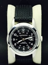 Hamilton Khaki Field Black Dial Automatic Men's Military Watch 25 Jewels