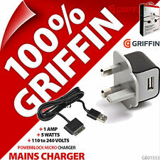 Griffin PowerBlock Micro USB Mains Charger UK Plug + 30 Pin Charge Sync Cable