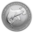 2015 Great Hammerhead Shark 1/2 oz .999 silver BU Round Coin - 300,000 MINTED!