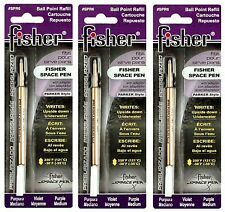 Three (3) Fisher Space Pen Purple Ink / Medium Point Refills / #SPR6