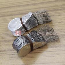 100x Infila Aghi Infilatore Cucito Manuale Strumento Alluminio Tono Argento DIY