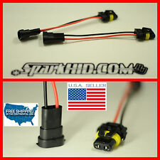 2x H11 adapter to 9006 880 HB4 bulb model convert Pigtail HARNESS SOCKET plugs