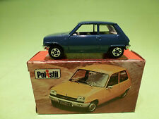 POLISTIL RJ23 RENAULT 5L - BLUE - RARE SELTEN - VERY GOOD CONDITION IN BOX