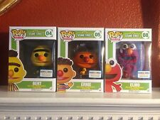 Funko Pop Flocked Bert Ernie Elmo Sesame St Barnes & Noble Exclusive SHIPS FREE!