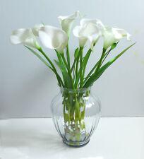 Artificial Flowers 9 calla lily + Orchid Grass Wedding Home Garden Plants Decor