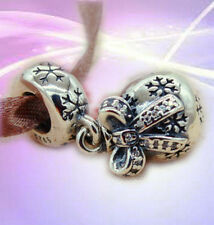 AUTHENTIC PANDORA STERLING SILVER BEAD/CHARM #791410CZ CHRISTMAS ORNAMENT DANGLE