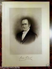 Antique Print 1912 DR.ALEXANDER READ Milford, MA Massachusetts STEEL ENGRAVING