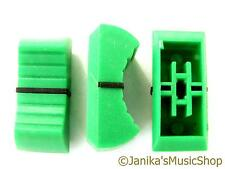 Green slider potentiometer knob for studio mixer fader dj control panel 11x24mm