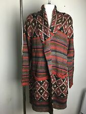Ralph Lauren Denim and Supply Cardigan Sweater Coat Womens XLarge Brown Wool New
