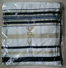 Black and Gold Messianic Tallit Talit Prayer Shawl & Talis Bag