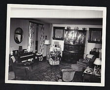 Vintage Antique Photograph Man Sitting in Chair in Cool Retro Room