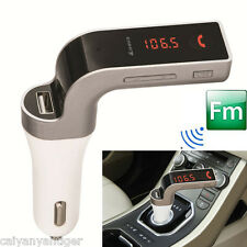 Bluetooth Car Speakerphone Kit Wireless FM Transmitter With USB Charger MP3 Play