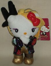 "Hello Kitty X Japan Yoshiki Yoshikitty Mascot Plush Doll 6.1"" 15.5cm Sanrio 2015"