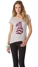 Marc by Marc Jacobs Stingray Grey Melange Mr. Zebra Tee Shirt Top Size Small