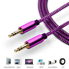 1M - 3.5mm Jack Professional HQ Pink AUX Cable Audio Lead For Headphone/MP3/iPod