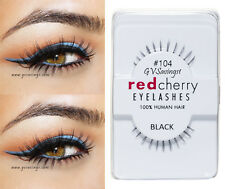 NIB~ Red Cherry #104 False Eyelashes BOTTOM UNDER Lashes Black Strip Human Hair