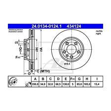 ATE 434124 Bremsscheibe  24.0134-0124.1 PORSCHE/VAG