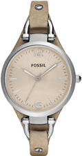 Women's Sand Fossil Georgia Leather Strap Watch ES2830