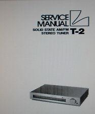 LUXMAN t-2 Solid State AM FM STEREO TUNER Servizio Manuale Inc schema elenco parti