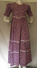 Vintage 1930s Nautical Cotton Print Day Dress Ships Flags Lanterns Novelty VTG