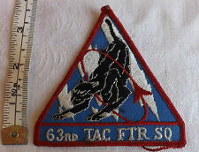Military USAF Air Force 63rd Tactical Fighter Squadron Cloth Badge (1401)