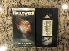 HALLOWEEN COLLECTOR'S EDITION HOLOGRAPHIC HOLOGRAM 3D COVER RARE VHS HORROR HTF!