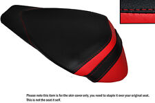 BLACK & RED LEATHER CUSTOM FITS APRILIA RSV4 R 1000 09-15 REAR SEAT COVER