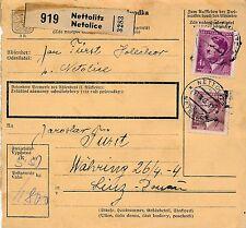 Nr.7218 Paket Karte Nettolitz Netolice 1943 Polen