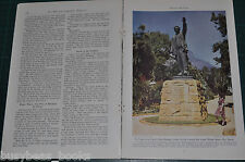 1944 magazine article RHODESIA history WWII happenings Natives color photos