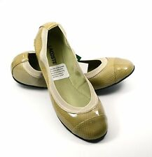 Lacoste Constance 4 Ballet Flat Shoes Patent Leather Light Brown Size 7.5
