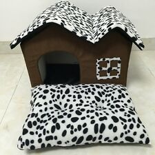 Portable Luxury Pet Dog Cat Bed House Warm Mat Snug Puppy Bedding Home Kennel