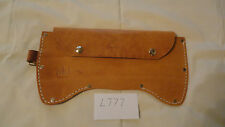 # L 777 HANDMADE EX-LARGE LEATHER  DOUBLE BIT AXE SHEATH