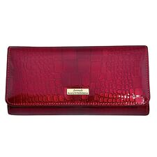 Serenade Cherry Croc Leather Wallet (WH19-01)