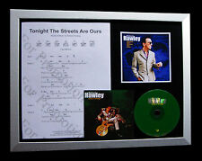 RICHARD HAWLEY Tonight Streets Ours QUALITY CD FRAMED DISPLAY+FAST GLOBAL SHIP