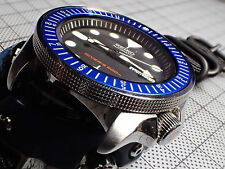 THE.SCANDI.ONE -BLUE- SEIKO BEZEL INSERT SKX007 7S26.020 W.LUMINOUS DOT Z-04-B