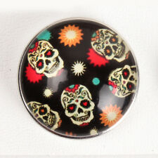 New Cool Skull Snaps Chunk Charm Button Fit for Noosa DIY Bracelets NS283