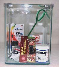 Nano Aquarium Garnelen Glas Becken Set incl. Filterpumpe, uvm. 10 Liter