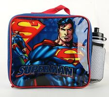 Brand New Superman Boys Lunch Bag Insulated Lunch Bag With Free Water Bottle