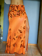 VESTITO DANZA del VENTRE belly dance costume egyptian danza orientale arancio