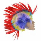 Multi Coloured Punk Rainbow Wig Mohican Mohawk Paty Rocker Costume Fancy Dress