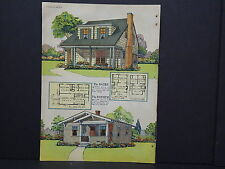 Houses, Homes, American Builder c.1927, One Double Sided Print #09