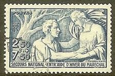 """FRANCE TIMBRE STAMP N° 498 """" SECOURS NATIONAL 2F50+ 7F50 """" OBLITERE TB"""