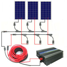 3x100W Solar Panel System 300W Solar Module with 500W Inverter AC220V Home Use