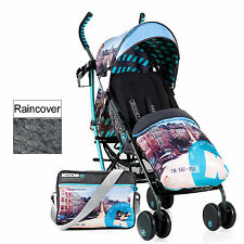 NEW KOOCHI SPEEDSTAR PUSHCHAIR STROLLER SAN FRAN FOOTMUFF BAG RAIN COVER