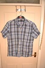 Men's Blu Verificato Camicia Taglia L