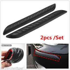 2Pcs Car Rubber Bumper Corner Protector Door Guard Cover Lip Crash Bar Trim Kit