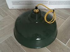 VINTAGE INDUSTRIAL ENAMEL FACTORY LAMP SHADE PENDANT LIGHT COOLICON BENJAMIN RLM
