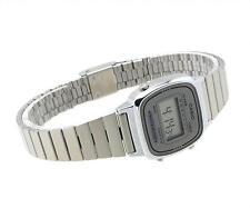 Genuine Casio LA670WA-7 Silver Stainless Steel Band Women's Casual Digital Watch